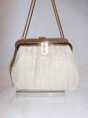 白メタルビンティージバック white metal vintage bag (made in U.S.A)