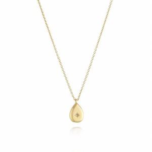 316L Water Drop Zircon Necklace