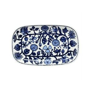 波佐見焼 WAZAN 和山窯 フラワーパレード 長皿 ホワイト 383717