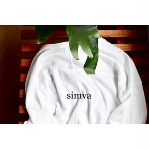 Simva114-0050S Football 切り替え 5分袖Tシャツ White