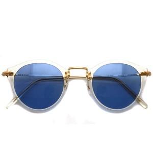 EYEVAN アイヴァン / E-0505 Sun / BECRG - BLUE (クリア-ゴールド - ブルーレンズ コンビネーションフレーム)