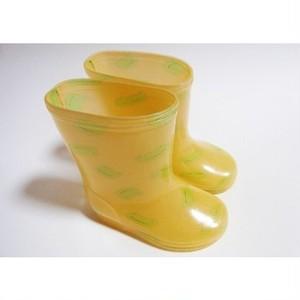 カエルレインブーツ 14cm キッズ長靴 黄色
