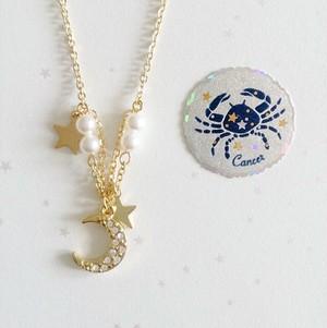 【12星座イメージアクセ】蟹座ネックレス