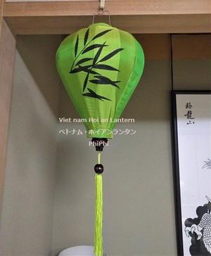 ベトナムランタン・ホイアンシルク提灯・イベント・お祭り・インテリア Kikyu35 TG
