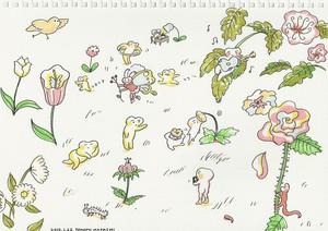 イラスト お花畑で遊ぶ妖精