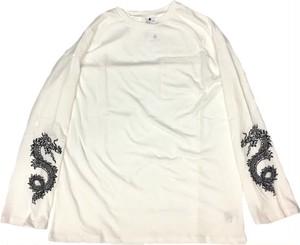 ドラゴン刺繍ポケット付きロンT