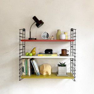 """TOMADO"" Metal Wall Shelving Design by A. D. Dekker / Frame Gray Rare Model 1960's オランダ"