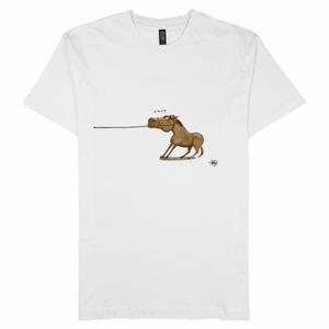 イヤイヤする馬Tシャツ(受注生産)