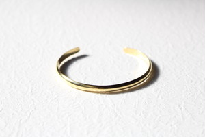 """""""receiving mode"""" simple bangle 【gold】L"""