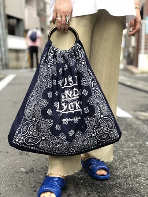 【remade:DUST AND ROCKS】Bandana Ring Bag