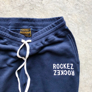 "ROCKEZ ""Double Logo"" Slimfit Sweat Pants -NAVY-"