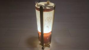 木と深山和紙が織りなすやわらかな灯り 木製 ランプ   No.   027