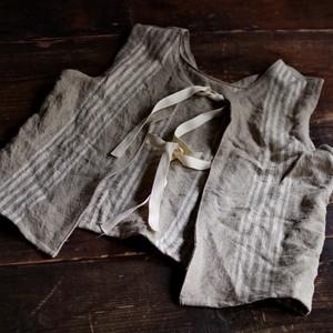 Re make 2way Linen Vest / リメイク リネン ベスト