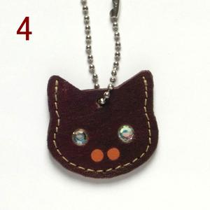 猫の本革迷子札 CT104