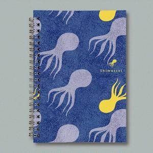 カスタムリングノート【Shimotsui octopus しろ】