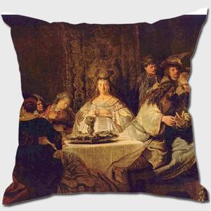 Simson, an der Hochzeitstafel das Ratsel aufgebend Cushion
