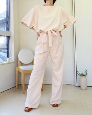 Ribon-front Jumpsuit