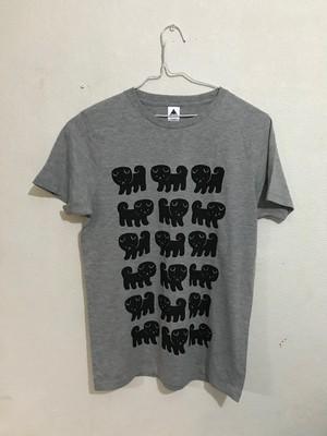 こいぬたくさんTシャツLサイズ(杢グレー)