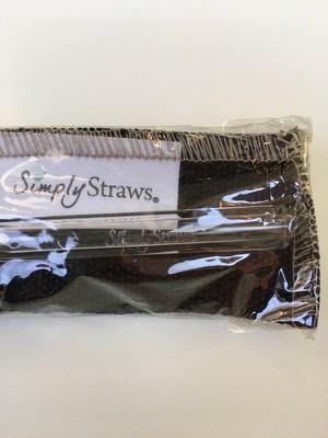 ガラスストロー クリア 黒キャンバスケース Simply Straws