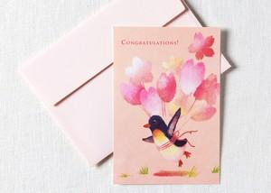 ポストカード5枚セット[おめでとうカード(桜)]