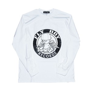 FLY BOY RECORDS Long Sleeve T (WHT)