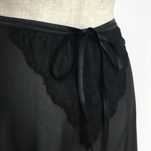 "☆""Corinne"" Ballet Wrap Skirt - Noir [Sheer](ノワール [シアー])"