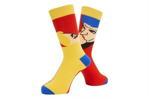WHIMSY / AFTERNOON DELIGHT SOCKS -RED-