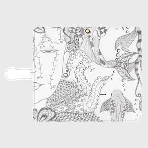 手帳型(帯あり)サイズ(L):kazue.M_003(水中瞑想)