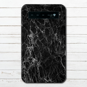 #000-034 モバイルバッテリー おすすめ iPhone Android かわいい おしゃれ 男性 向け 大理石 マーブル柄 スマホ 充電器 タイトル:marble black