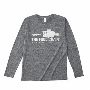 BURITSU THE FOOD CHAIN LongT  : Gray×White