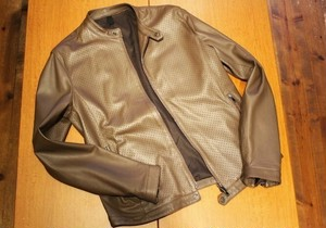 TAGLIATORE Lamb Leather Riders Jacket