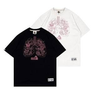 【GRAF】天使&悪魔&肺モチーフ刺繍入りTシャツ
