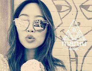 Gold Clear Cateye Sunglasses