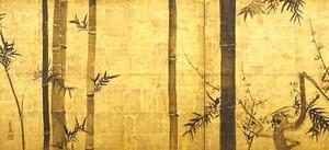 尾形光琳作「竹梅図屏風」(※高精細複製画)(原寸 2曲1隻 H658×W1815)