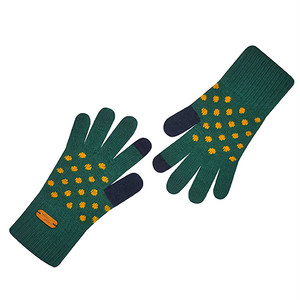 Touch screen gloves - Dancing Dot (Green)