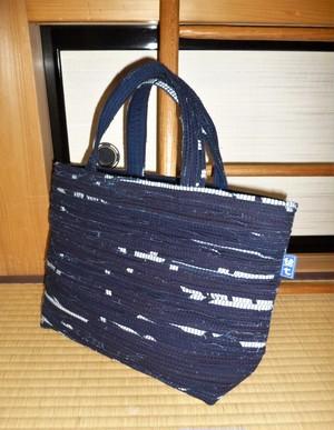 藍染裂織トート 紺