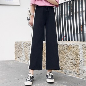 【bottoms】 ハイウエストファッション無地ガウチョパンツ26635435