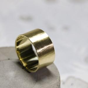 ブラスフラットリング 10.0mm幅 マット 3号~27号|WKS FLAT RING 10.0 bs matte|BRASS 真鍮 FA-275
