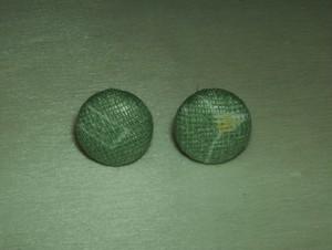 「黄緑色ドリ」柄のスタッド型ピアス