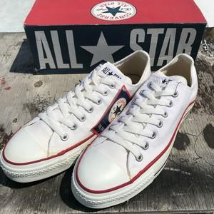 90's CONVERSE コンバース ALL STAR LOW キャンバススニーカー 白 オプティカルホワイト デッドストック NOS US8.5 USA製 希少 ヴィンテージ