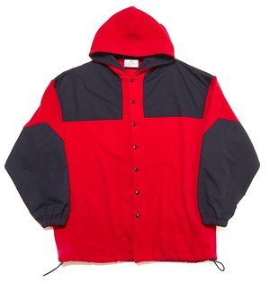 MONSTER FLEECE COAT - RED