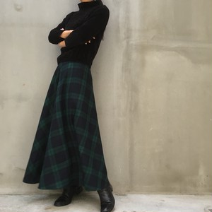AnnTayler 80's wool check skirt