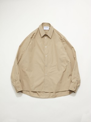 HED MAYNER OPEN BACK BUTTONED SHIRT Beige AW20_S601_BEG