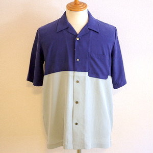 By-Color Open Collar Shirts Blue