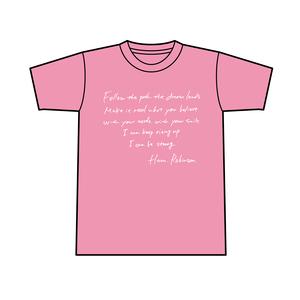 夢の行方 Tシャツ Lサイズ (ピンク)