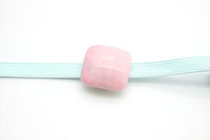 有田焼 帯留  四角 ピンク