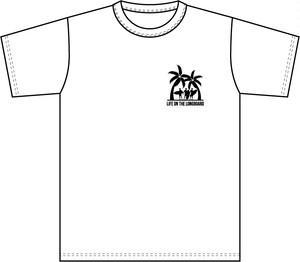 Life on the LongboadオリジナルTシャツ:デザインB(ホワイト)