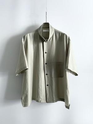 T/f Lv4B N/R/S twill half sleeve shirt - dark soot