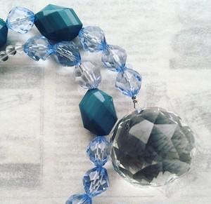 天然石 サンキャッチャー クリスタル ビーズ 青 グレー 虹色 浄化 お祝い 誕生日 プレゼント