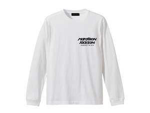 LONG SLEEVE T-SHIRT M319205-WHITE / ロンT ホワイト WHITE  / MARATHON JACKSON マラソン ジャクソン